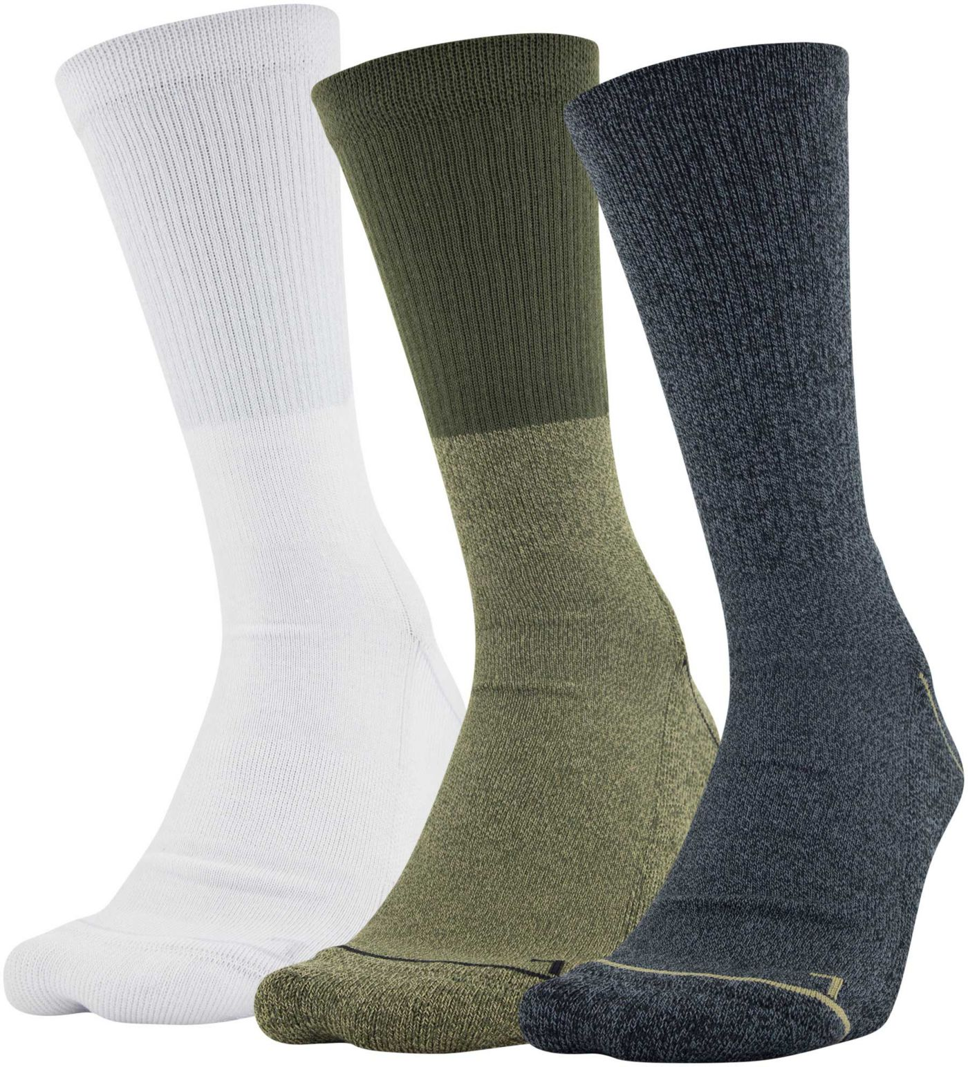 Under Armour Men's Phenom 5.0 Solid Crew Socks