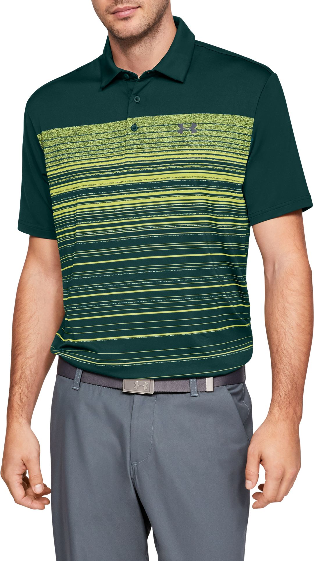4890c3793f Under Armour Men's Playoff 2.0 Daybreak Stripe Golf Polo
