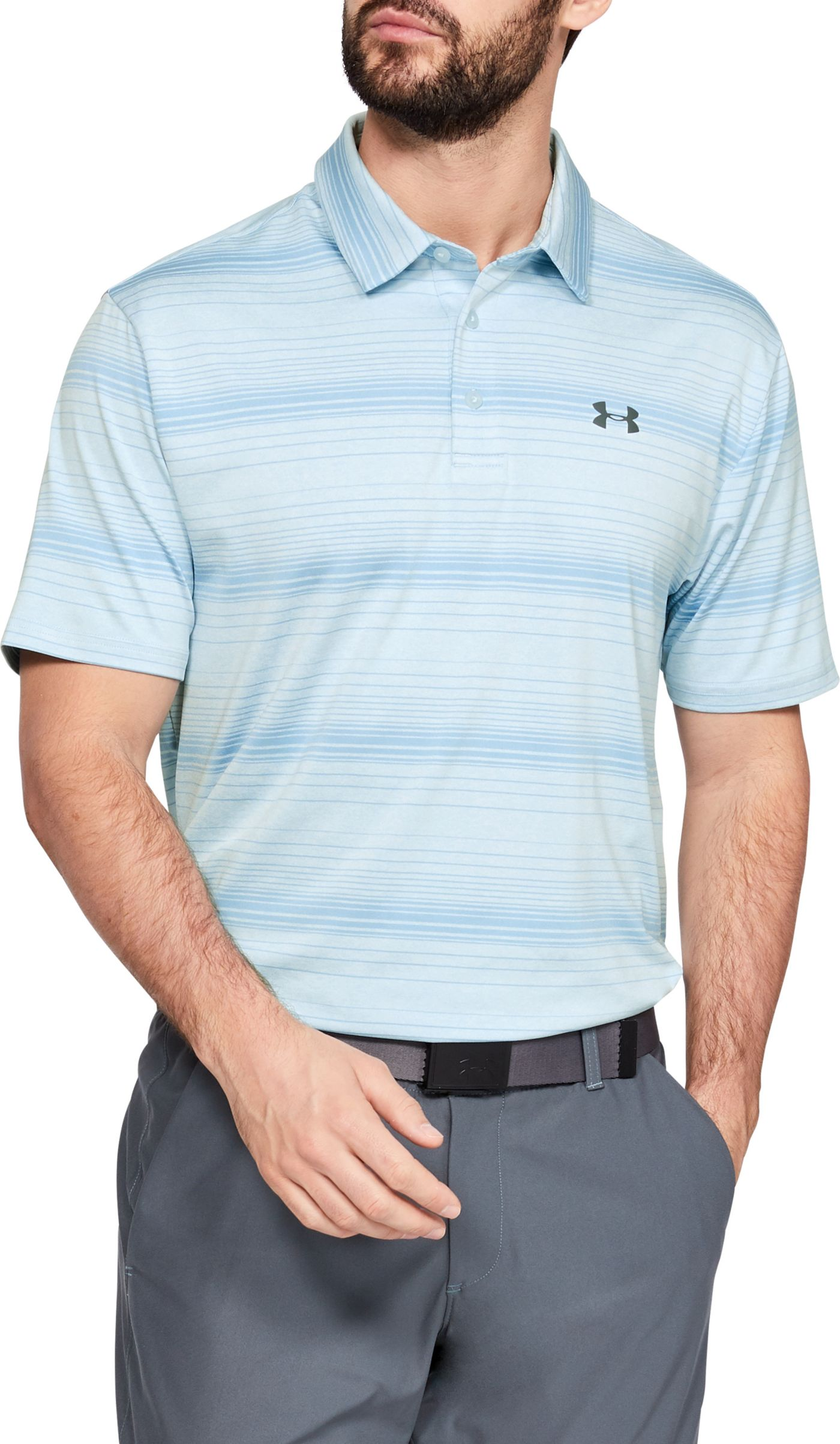 Under Armour Men's Playoff 2.0 Launch Stripe Golf Polo