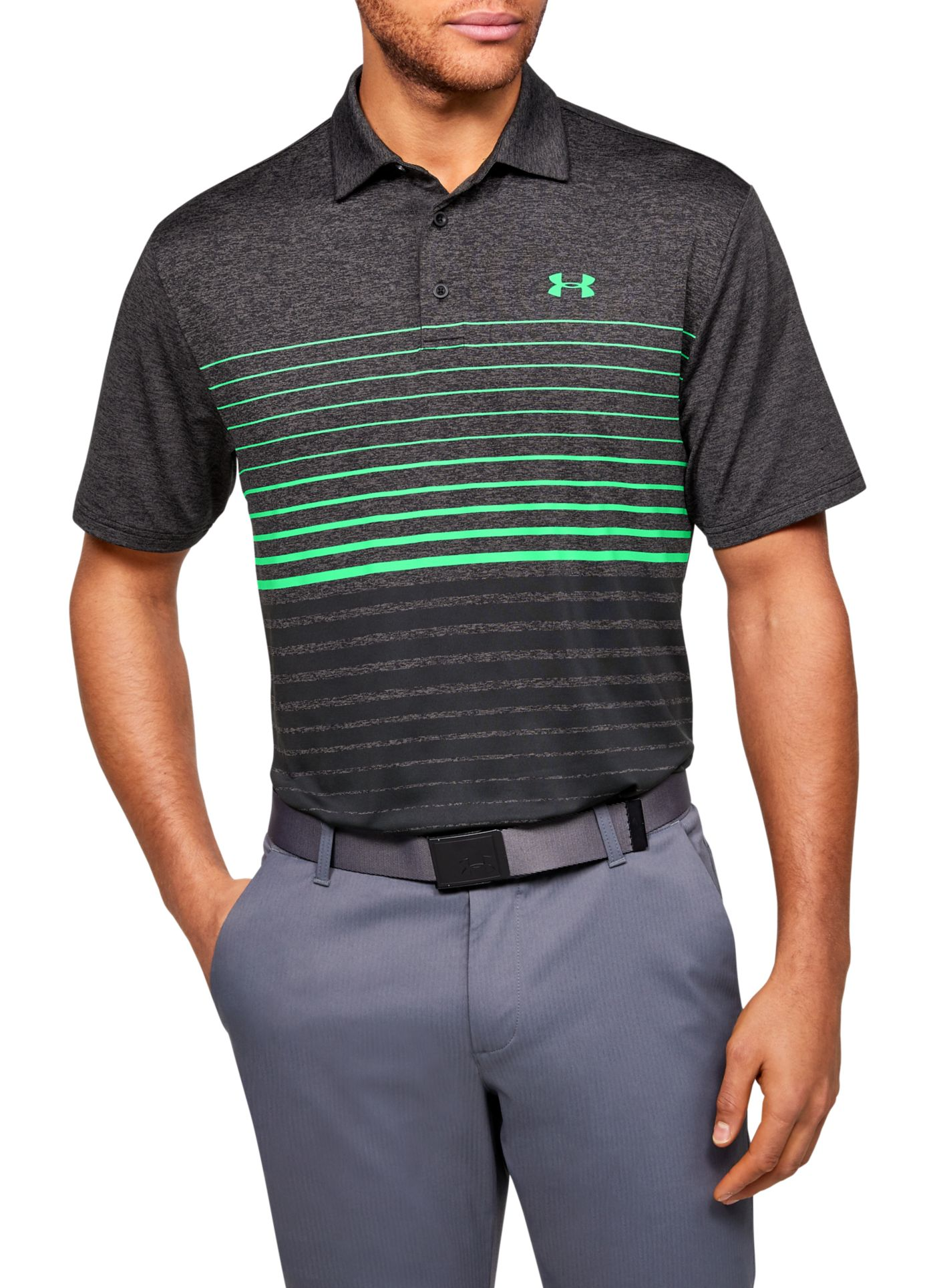 Under Armour Men's Playoff 2.0 Stripe Golf Polo