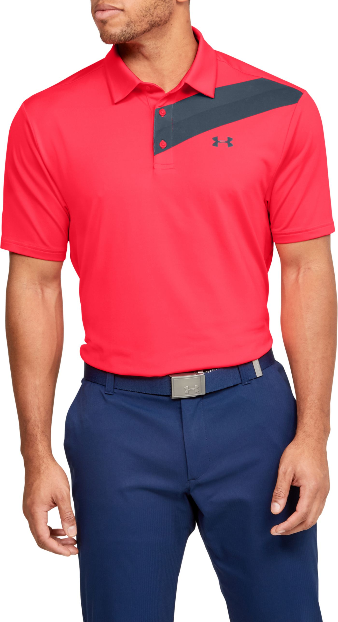 Under Armour Men's Playoff 2.0 Chest Print Golf Polo