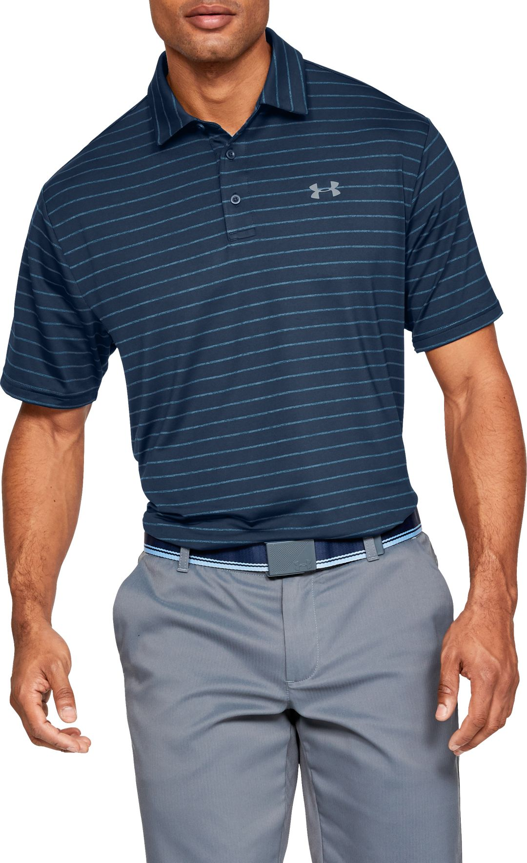 29dd1cfd5b Under Armour Men's Playoff 2.0 Tour Stripe Golf Polo