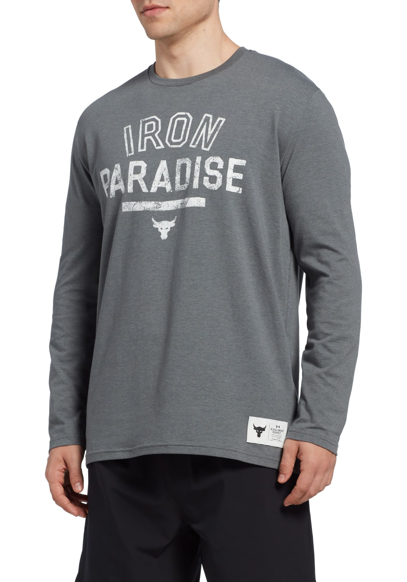 Under Armour Men's Project Rock Iron Paradise Graphic Long Sleeve Shirt