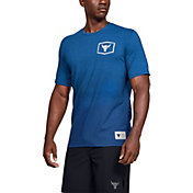 Under Armour Men's Project Rock Iron Paradise Graphic T-Shirt in Heron/Heron