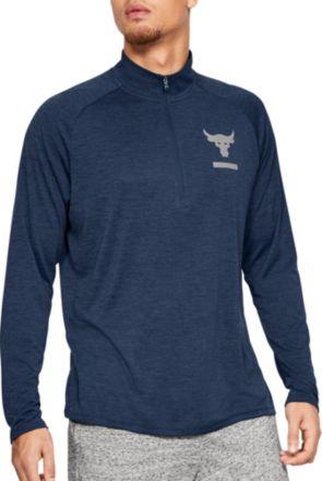 f2c1b76bc Under Armour Men's Project Rock Tech ½ Zip Long Sleeve Shirt