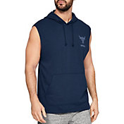 Under Armour Men's Project Rock French Terry Sleeveless Hoodie