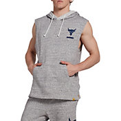 Under Armour Men's Project Rock French Terry Sleeveless Hoodie in Onyx White/Academy