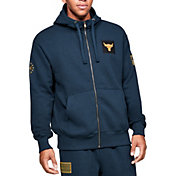 Under Armour Men's Project Rock Veteran's Day Full-Zip Hoodie (Regular and Big & Tall) in Academy/Gold Rush