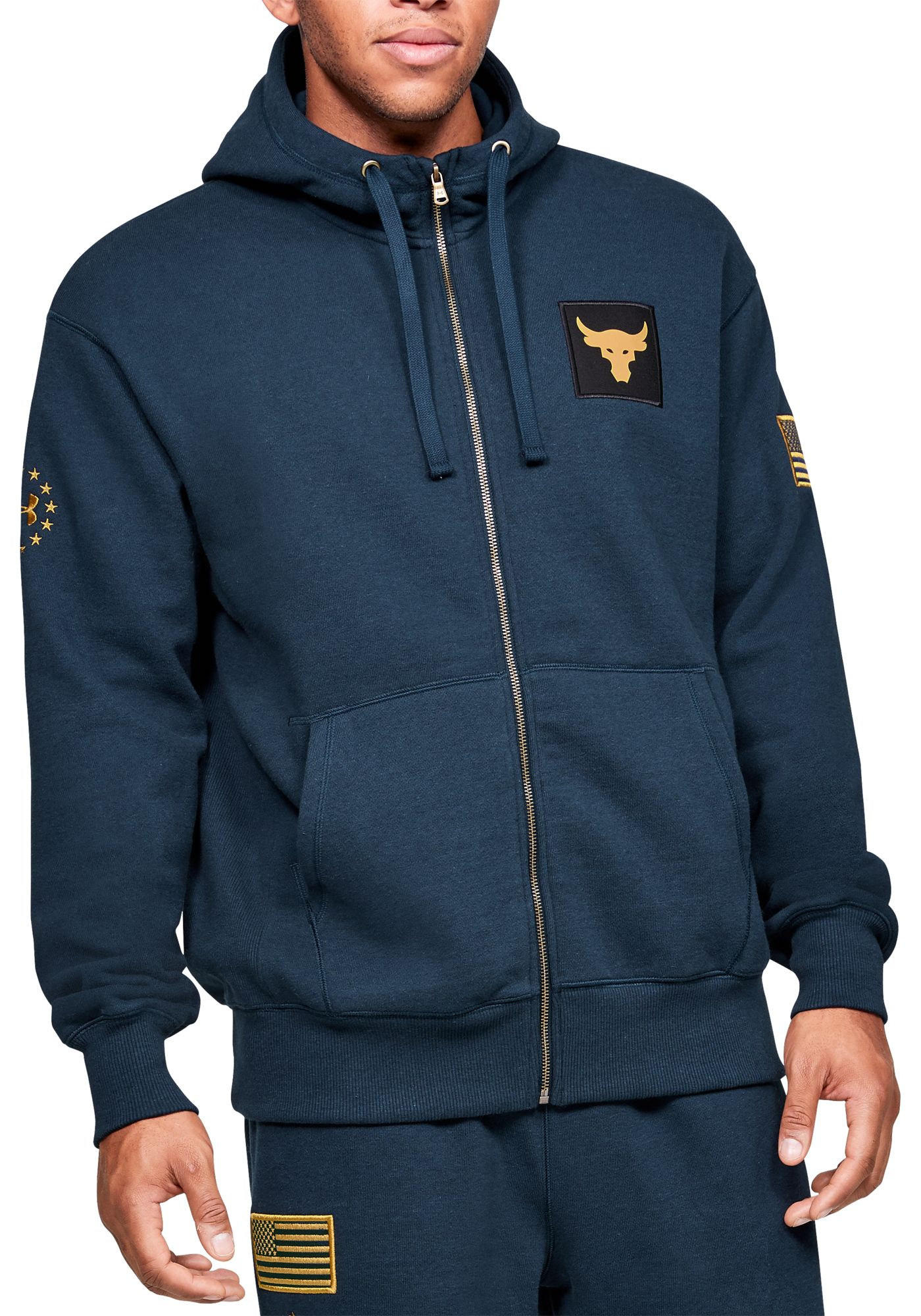 Under Armour Men's Project Rock Veteran's Day Full-Zip Hoodie