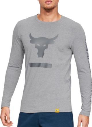 34e6684cd Under Armour Men's Project Rock Hardest Worker Graphic Long Sleeve Shirt