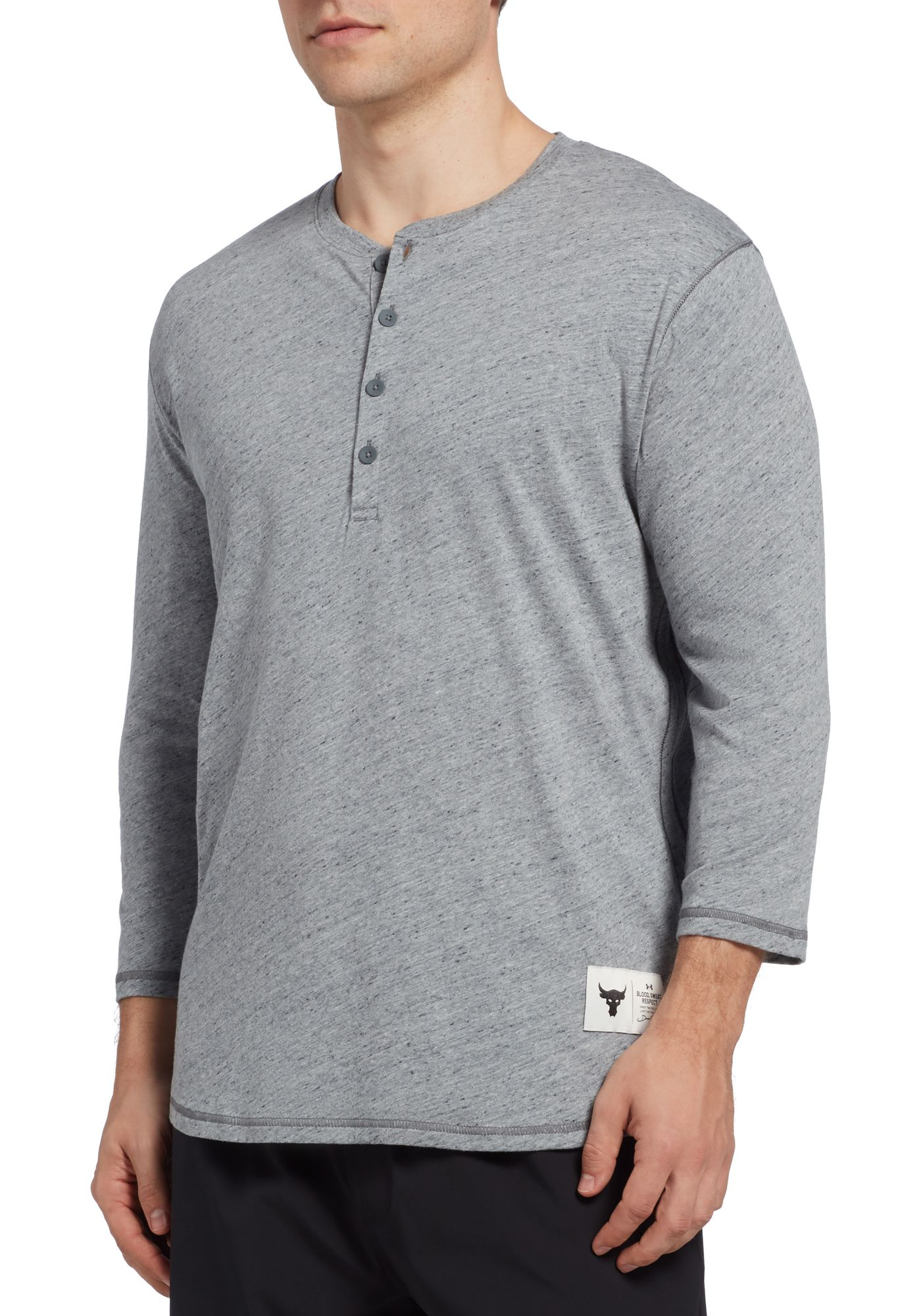 Under Armour Men's Project Rock Henley ¾ Sleeve Shirt