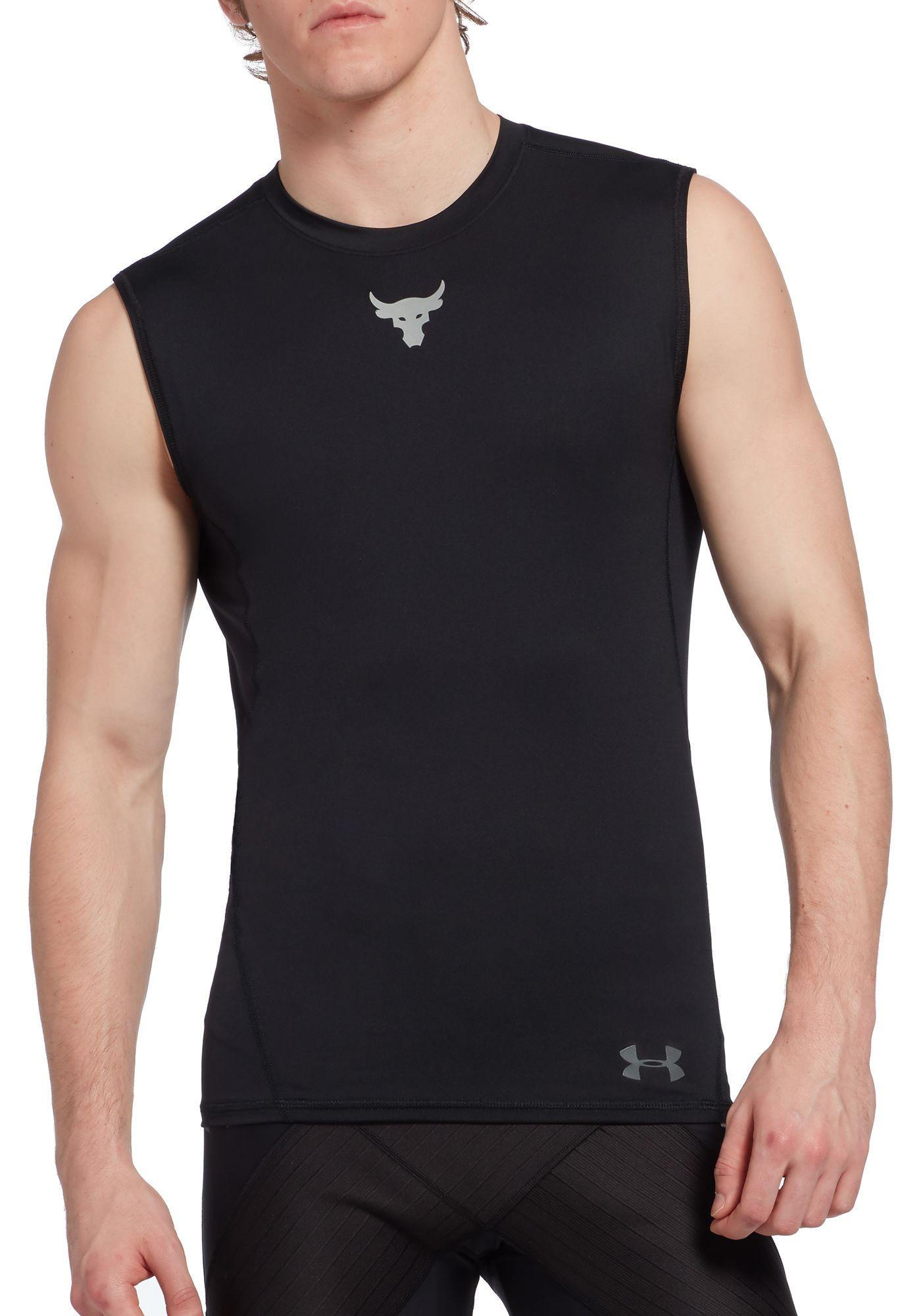 Under Armour Men's Project Rock HeatGear Compression Sleeveless Shirt