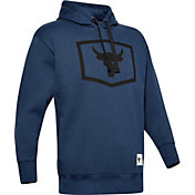 Under Armour Men's Project Rock Warm Up Hoodie in Academy
