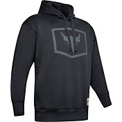 Under Armour Men's Project Rock Warm Up Hoodie in Black/Pitch Gray