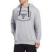 Under Armour Men's Project Rock Warm Up Hoodie in Mod Gray