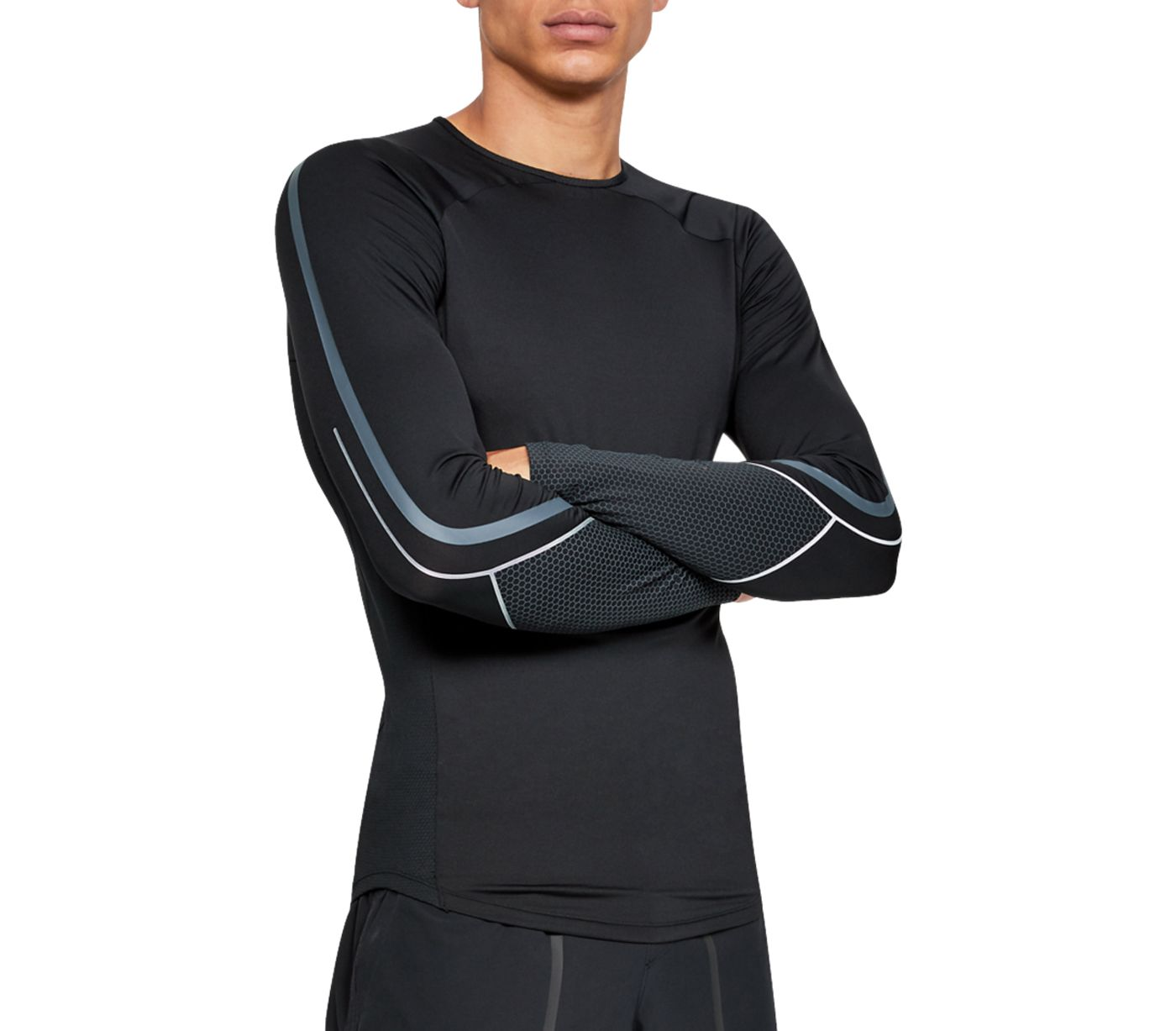 Under Armour Men's RUSH Compression Graphic Long Sleeve Shirt