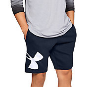 Under Armour Men's Rival Fleece Logo Sweat Shorts in Academy