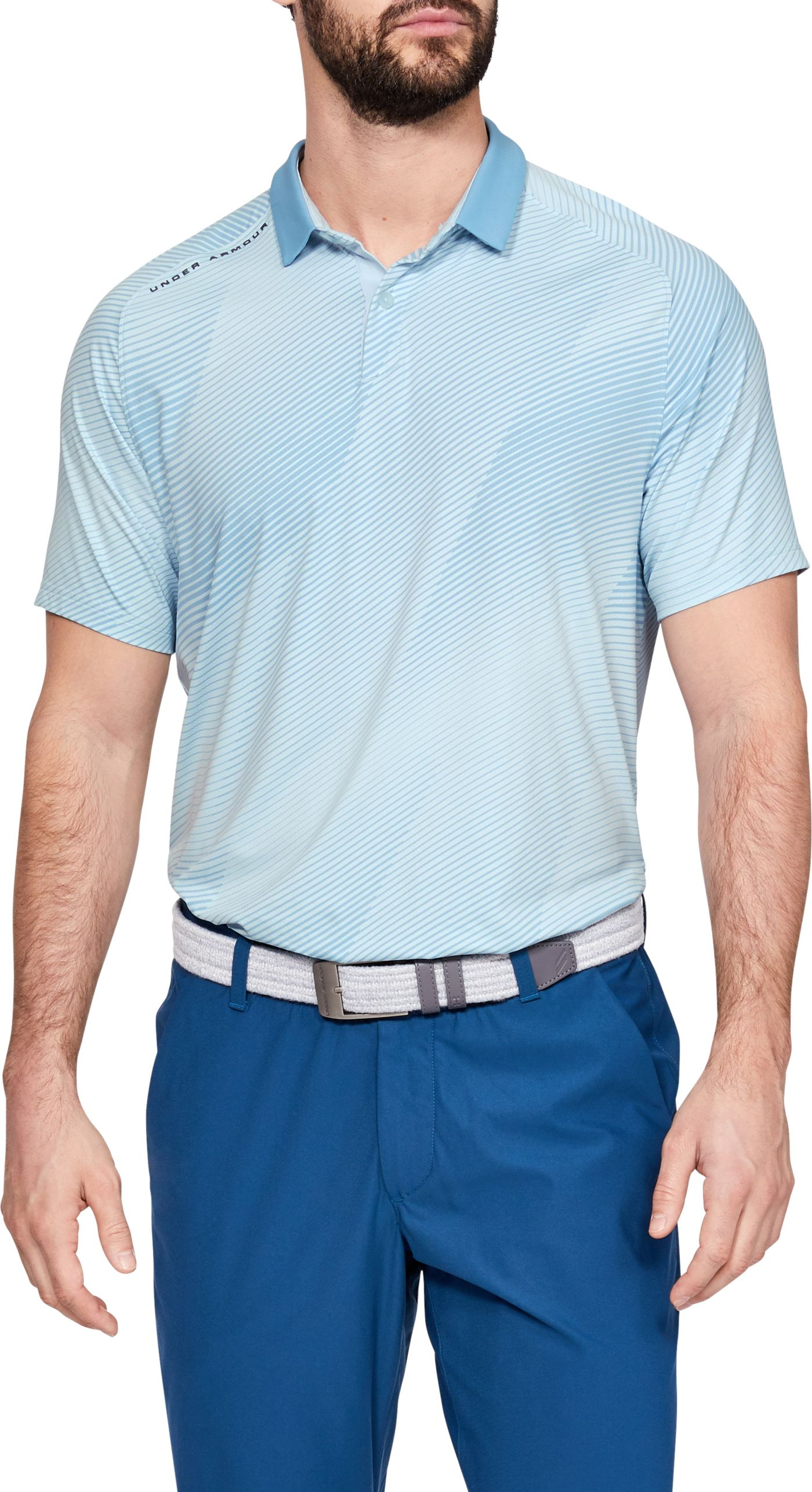 Under Armour Men's Iso-Chill Drop Zone Golf Polo
