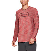Under Armour Men's Seamless Fish Hunter Crew Long Sleeve Shirt