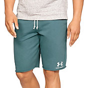 Under Armour Men's Sportstyle Terry Fleece Shorts in Dust/Onyx White