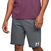 Under Armour Men's Sportstyle Terry Fleece Shorts in Pitch Gray/Onyx White