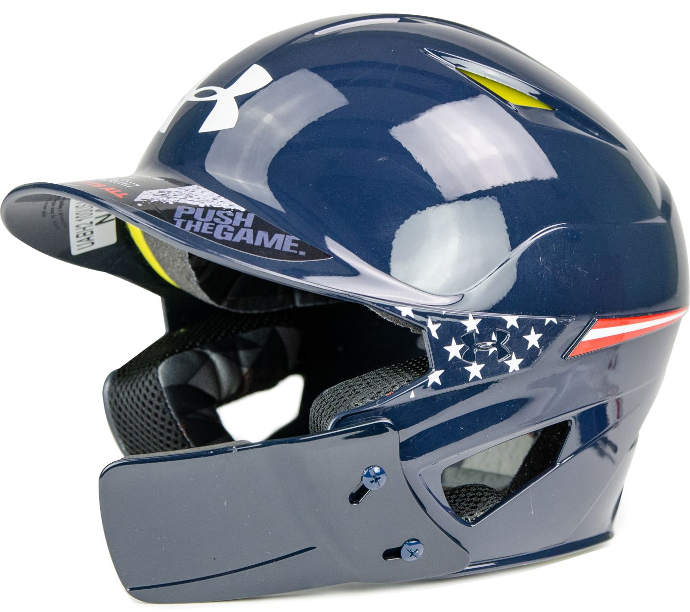 Under Armour Senior Converge Americana Batting Helmet w/ Jaw Guard