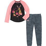 Under Armour Toddler Girls' Camp Fire Friends T-Shirt and Pants Set