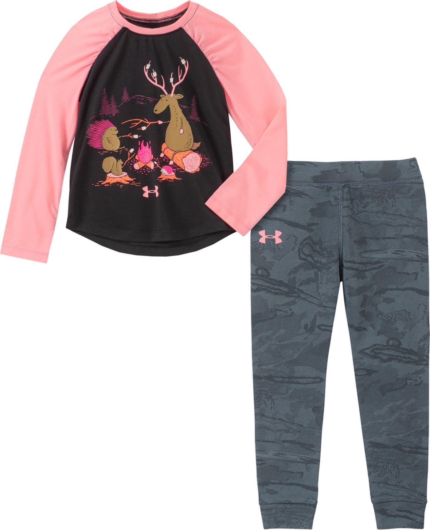 Under Armour Toddler Girls' Camp Fire Friends T-Shirt and Pants Set