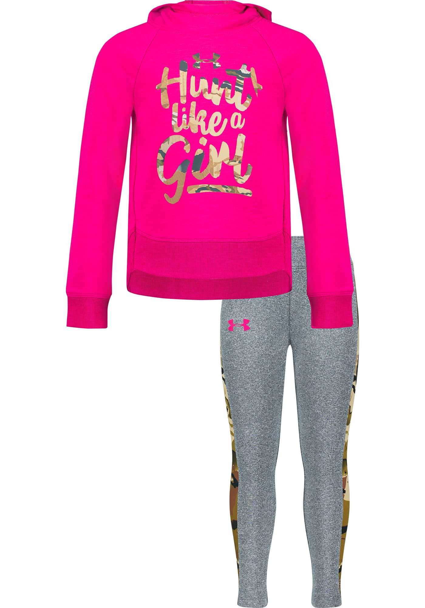 Under Armour Girls' Toddler Hunt Like a Girl Hooded Shirt and Pants Set