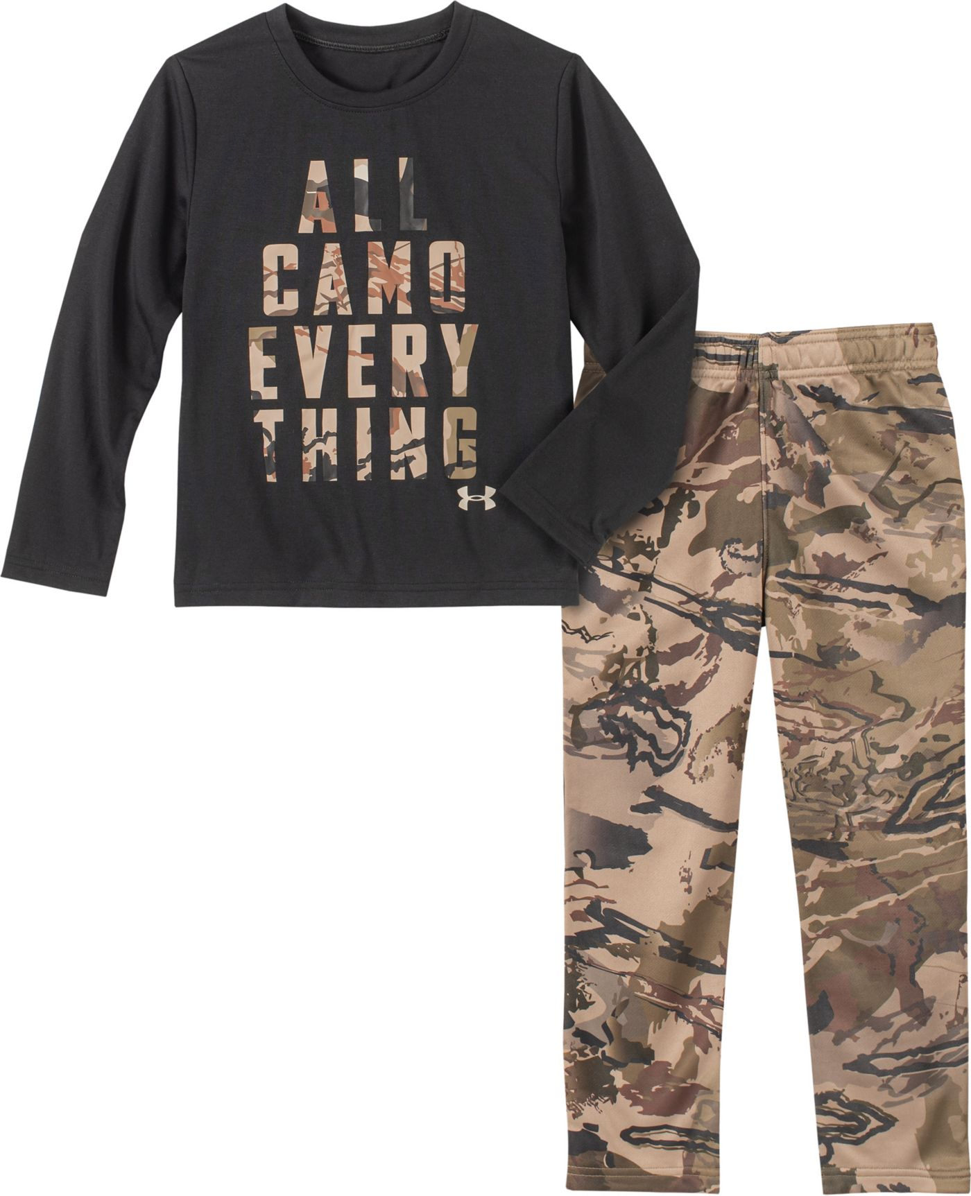 Under Armour Toddler Boys' All Camo Everything T-Shirt and Pants Set
