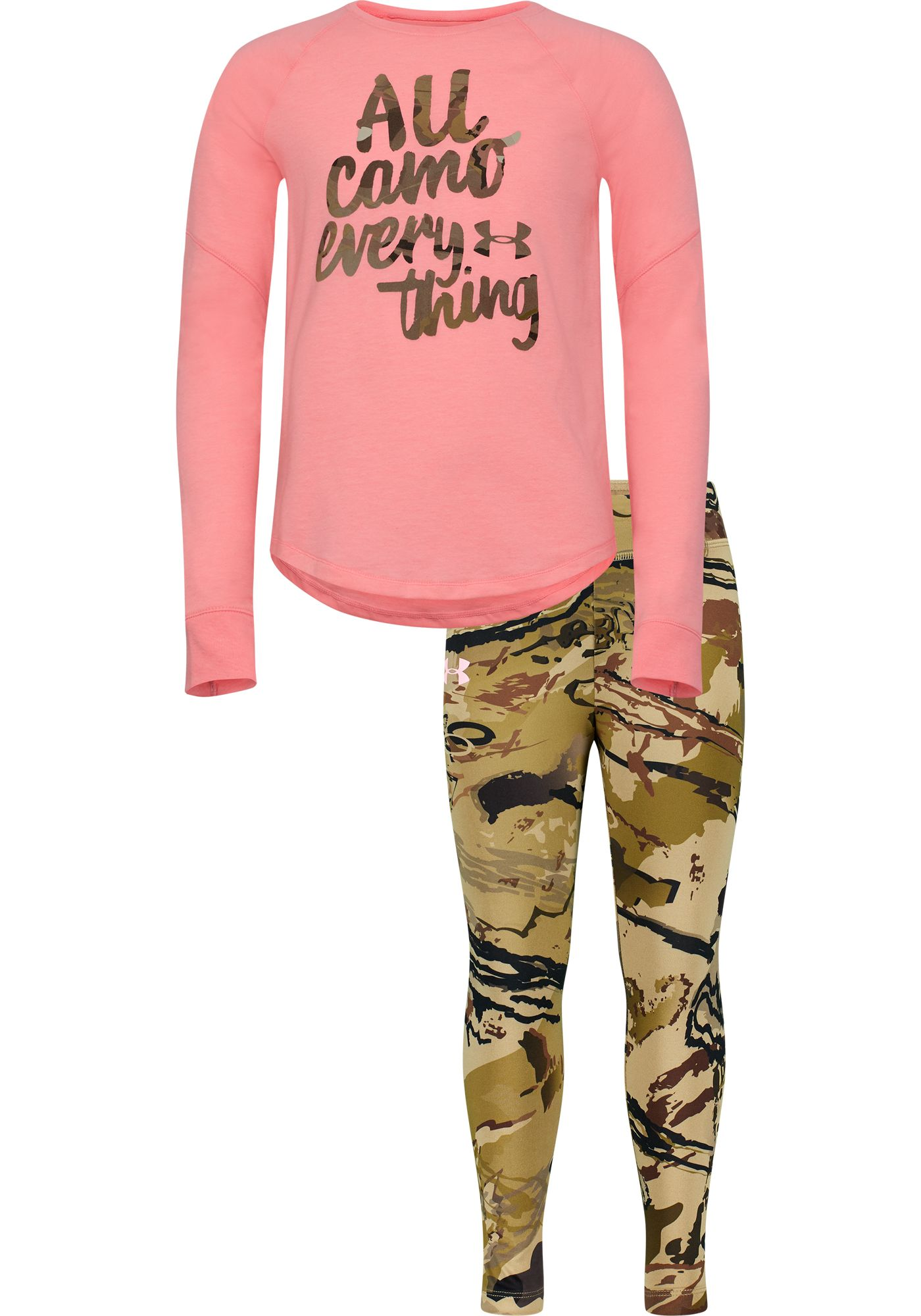 Under Armour Toddler Girls' All Camo Everything T-Shirt and Pants Set