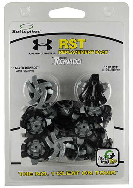 Softspikes Silver Tornado / Under Armour RST Golf Spike Package