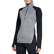 Under Armour Women's ColdGear Armour Heathered Half-Zip Pullover