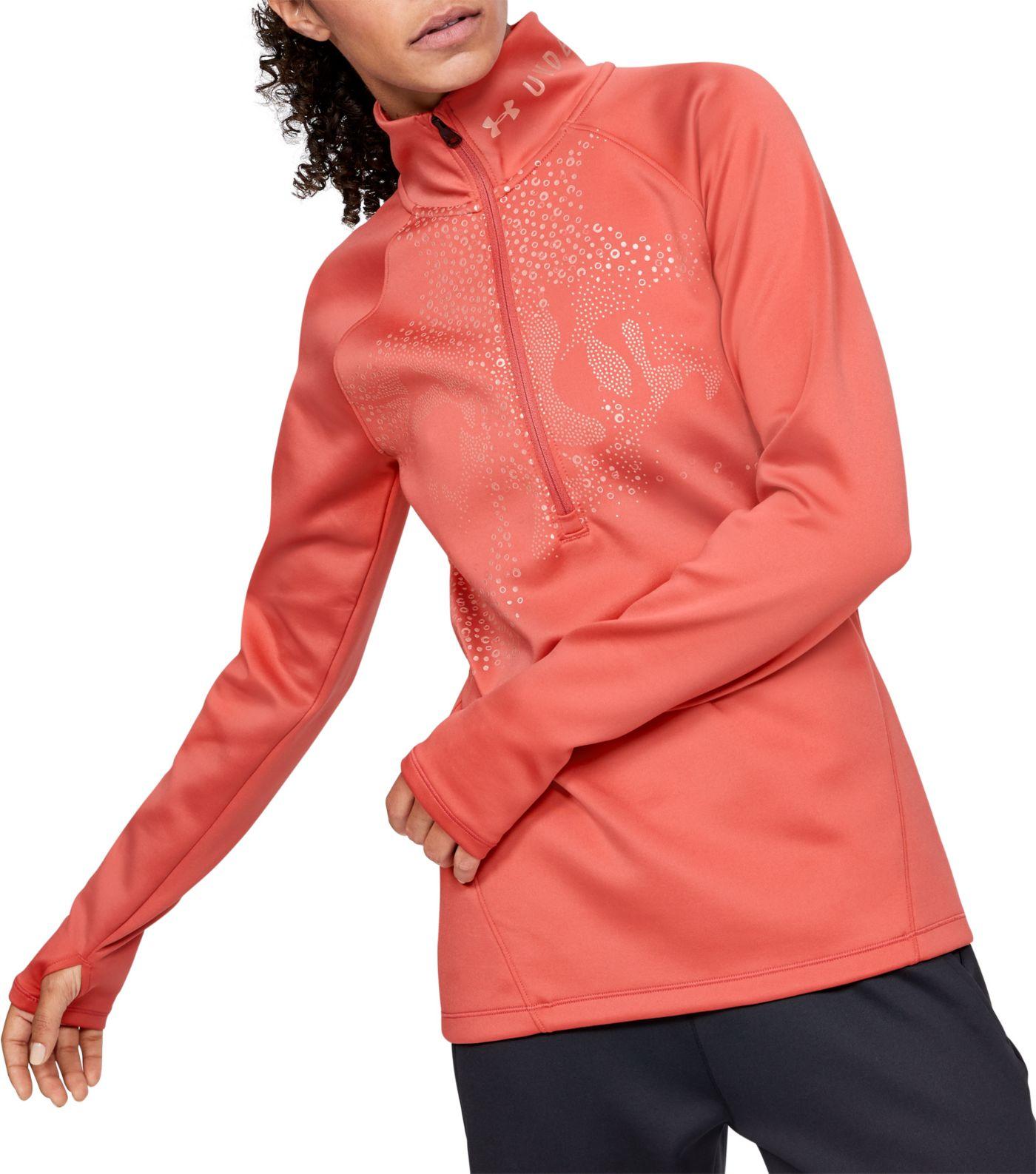 Under Armour Women's ColdGear Armour ½ Zip Graphic Long Sleeve Shirt