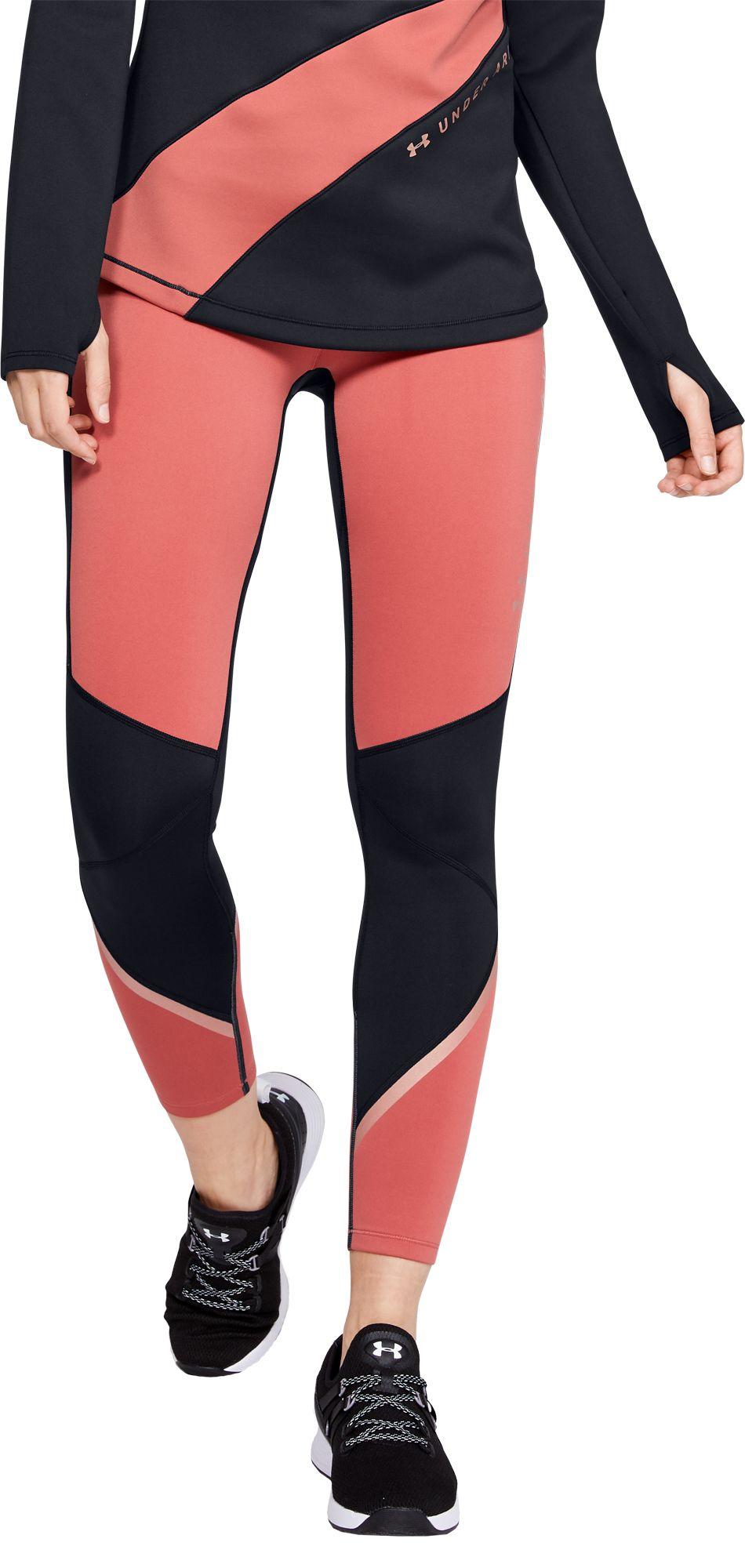 Under Armour Women's ColdGear Armour Graphic Leggings, XS, Fractal Pink/Black