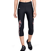 Under Armour Women's HeatGear Printed Inset Capris
