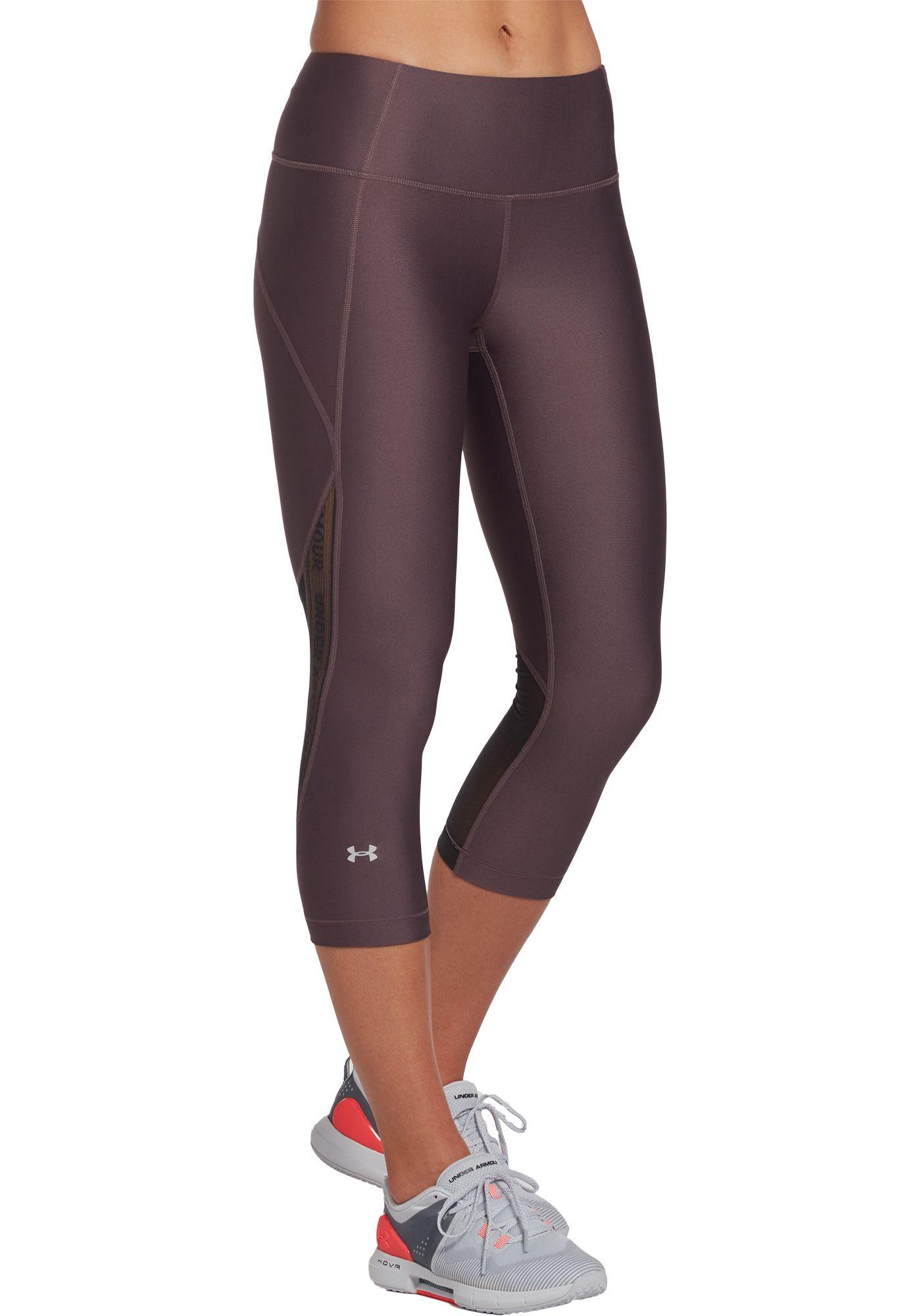 Under Armour Women's HeatGear Armour Branded Capri Leggings