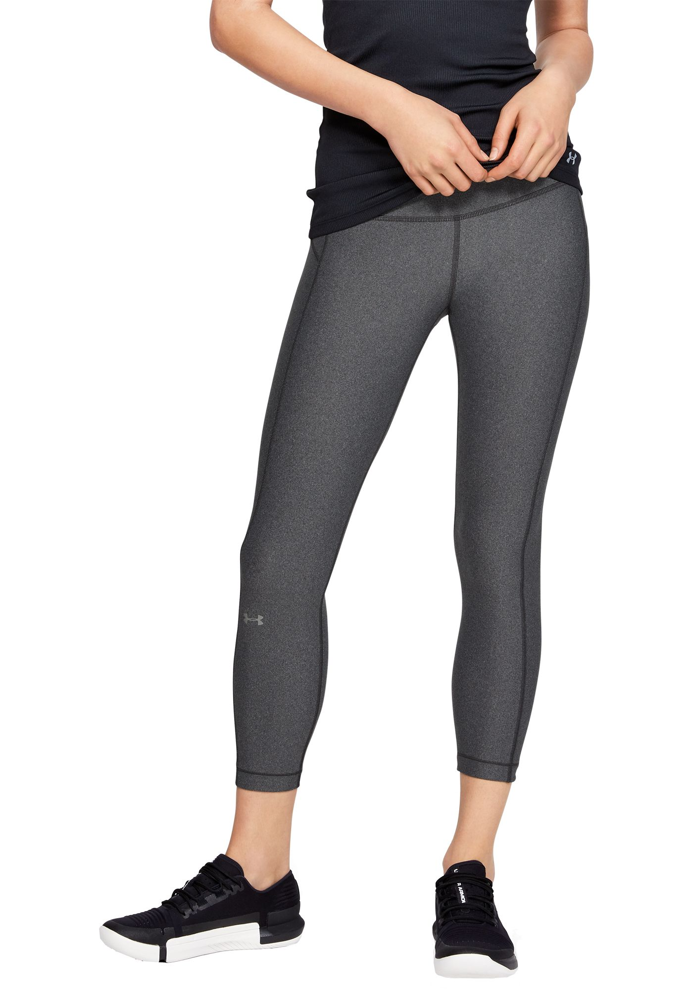Under Armour Women's HeatGear Armour Hi-Rise Ankle Crop Leggings
