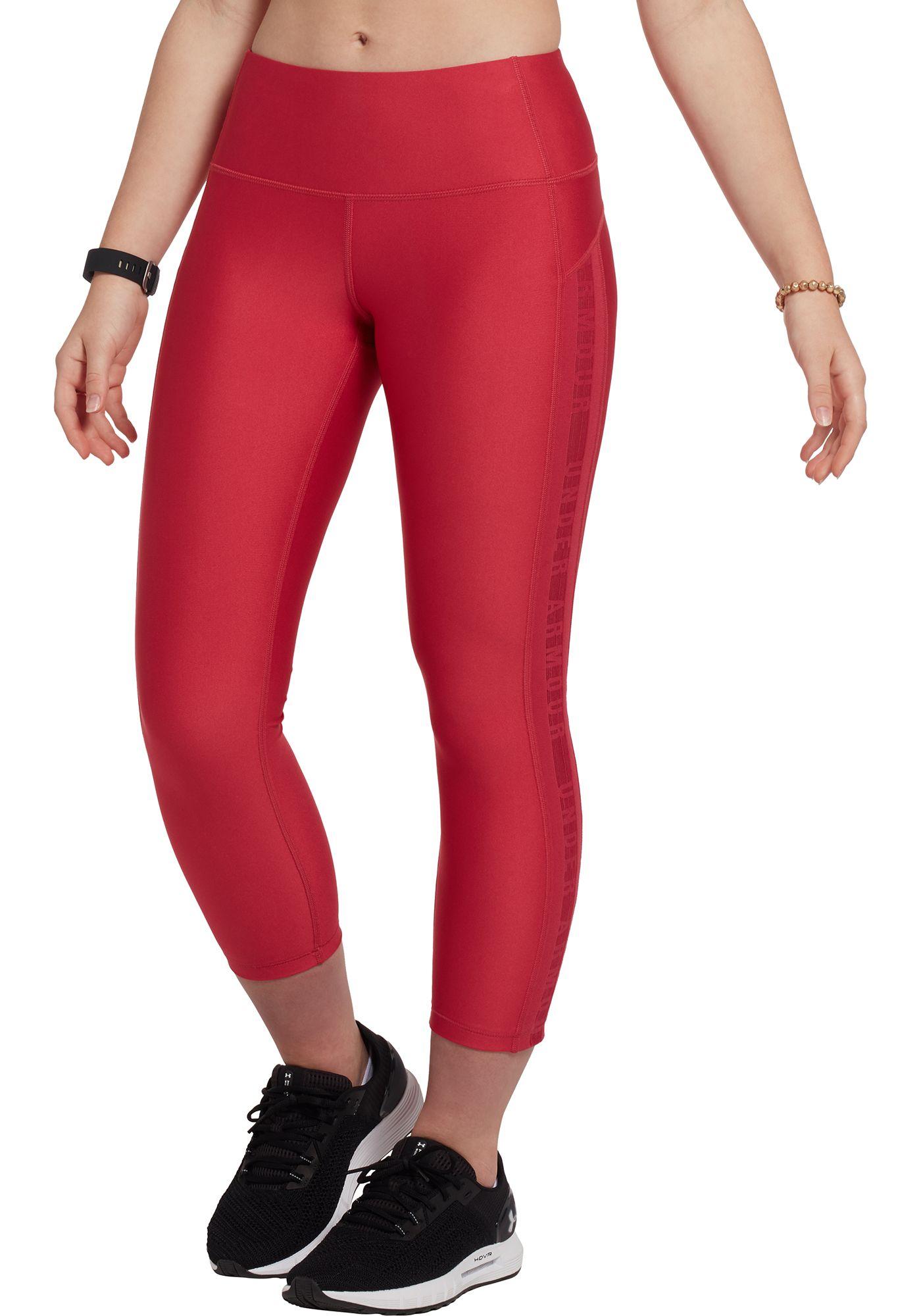 Under Armour Women's HeatGear Armour Ankle Crop Brand Leggings