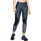 Under Armour Women's HeatGear Shine Ankle Crop Compression Tights