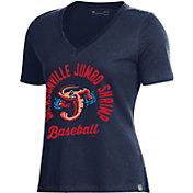 Under Armour Women's Jacksonville Jumbo Shrimp Navy V-Neck Performance T-Shirt