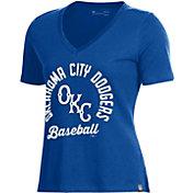 Under Armour Women's Oklahoma City Dodgers Royal V-Neck Performance T-Shirt