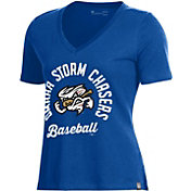 Under Armour Women's Omaha Storm Chasers Royal V-Neck Performance T-Shirt