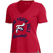 Under Armour Women's Reading Fightin Phils Red V-Neck Performance T-Shirt