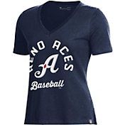 Under Armour Women's Reno Aces Navy V-Neck Performance T-Shirt