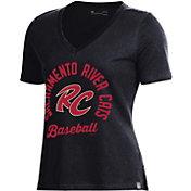 Under Armour Women's Sacramento River Cats Black V-Neck Performance T-Shirt