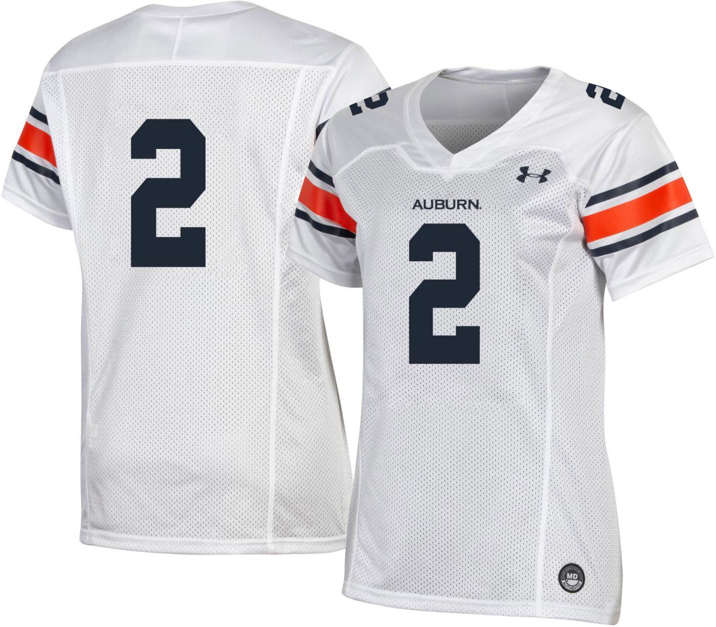 Under Armour Women's Auburn Tigers #2 Replica Football White Jersey
