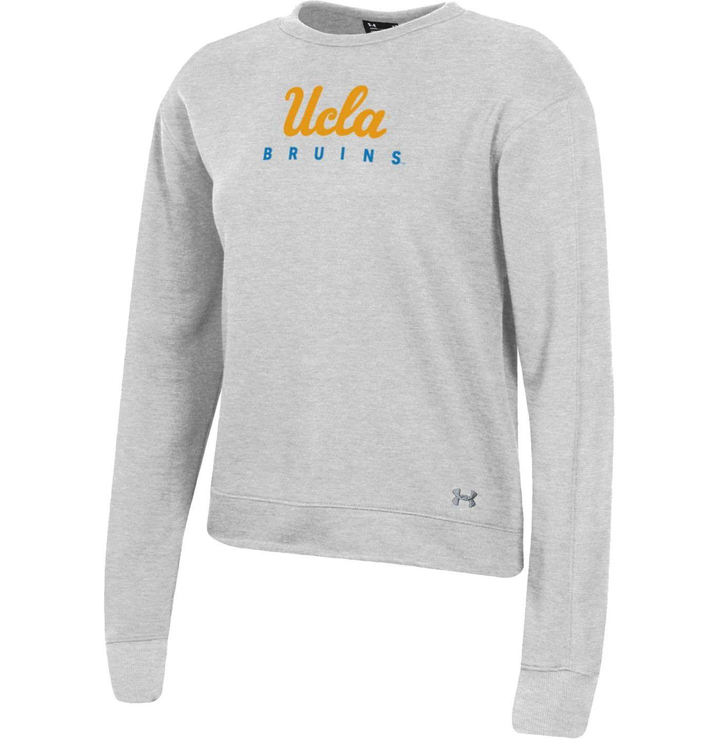 Under Armour Women's UCLA Bruins Silver All Day Fleece Crew-Neck Sweatshirt