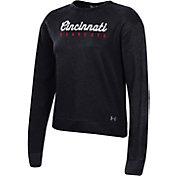Under Armour Women's Cincinnati Bearcats Black All Day Fleece Crew-Neck Sweatshirt
