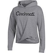 Under Armour Women's Cincinnati Bearcats Grey Wrap Pullover Hoodie